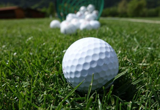 Close up of golf ball | Fundraiser Stroke Recovery Foundation