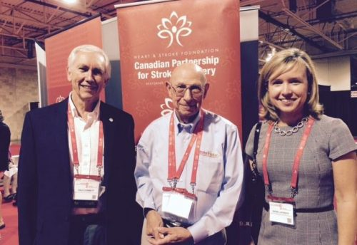 Bob Mandell at Canadian Stroke Congress in 2015 | Stroke Recovery Foundation