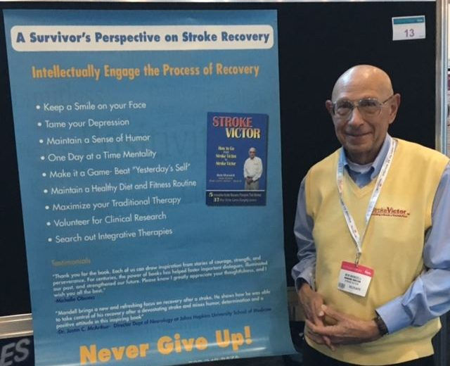 Photo of Bob Mandell at a conference- A Stroke Survivor's Perspective on Stroke Recovery | Stroke Recovery Foundation