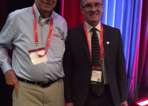 Bob Mandell and Dr Robert Teasell at the Canadian Stroke Congress | Stroke Recovery Foundation