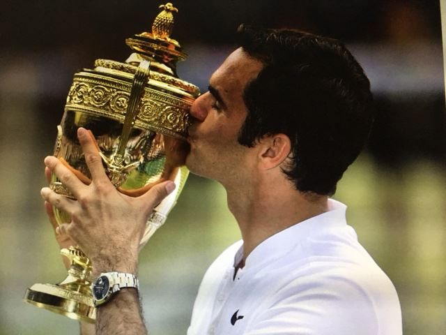 Roger Federer winning 2017 Wimbedon Tennis Tournament | Stroke Recovery Foundation