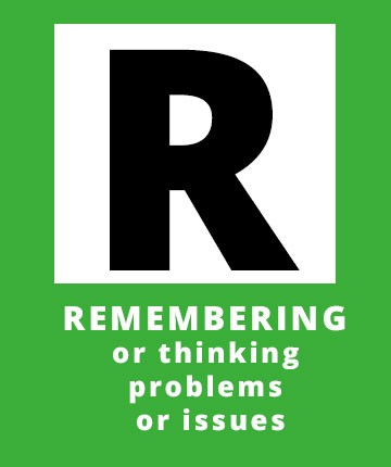 R for Remembering or thinking problems or issues apossible sign of a stroke | Stroke Recovery Foundation