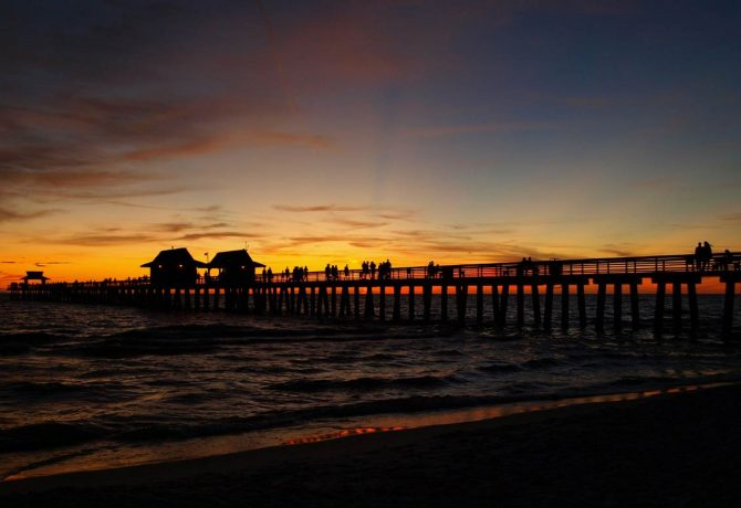 The Naples Pier at Sunset | Stroke Recovery Foundation